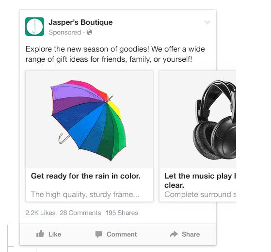 Facebook ad campaign