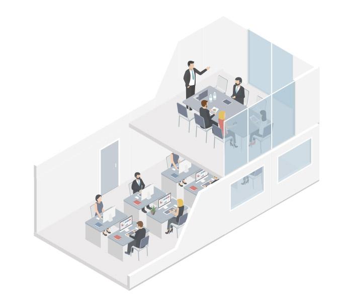 Floorplan with statistics