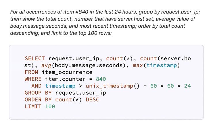 Ruby error analytics query tool