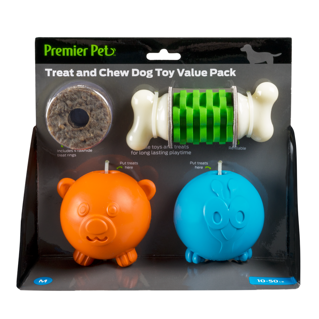 Treat and Chew Toy Value Pack