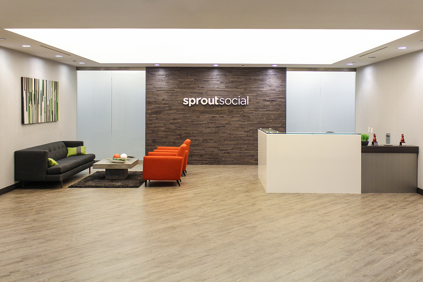 The Sprout Social front office.
