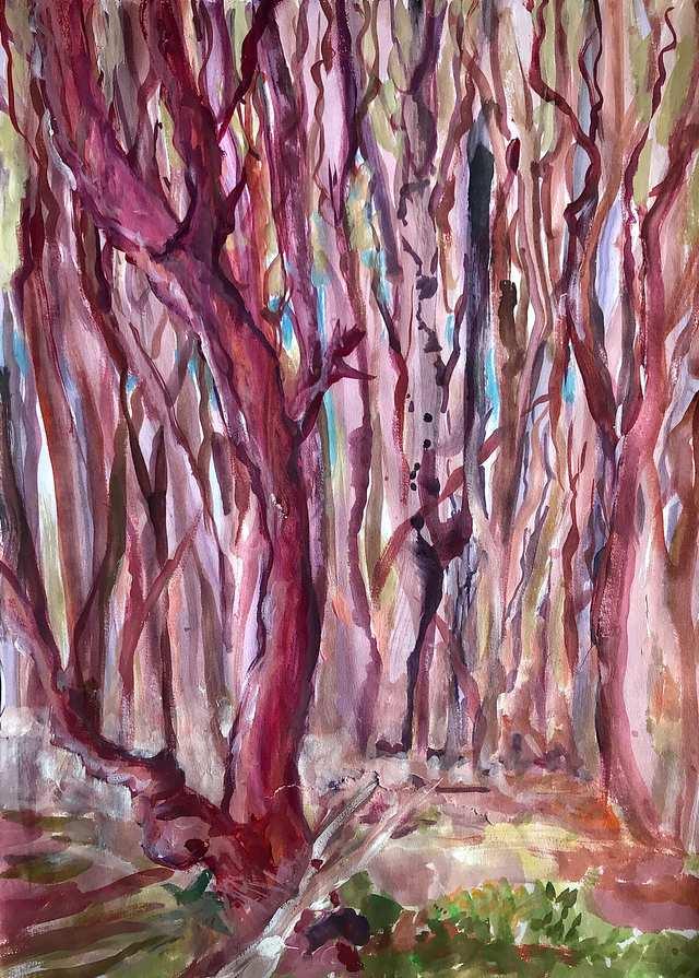 Oceania Feeling Swamp Pine Dreaming, acrylic on paper