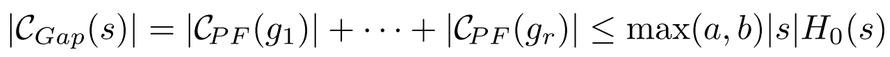 C<sub>Gap</sub> bound