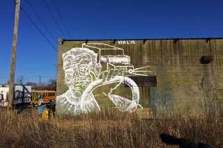 painting detroit graffiti