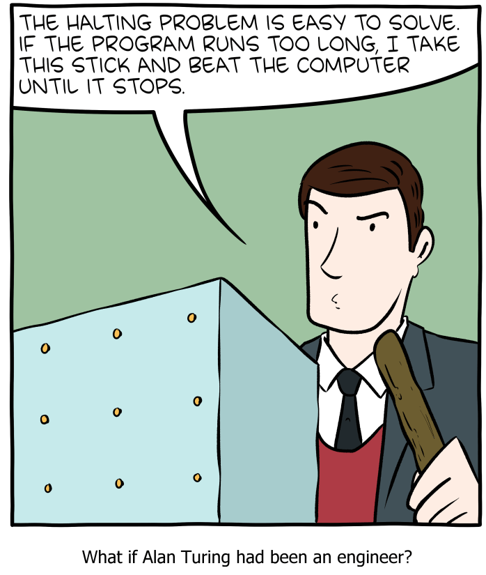 8.5: SMBC's take on solving the Halting problem.