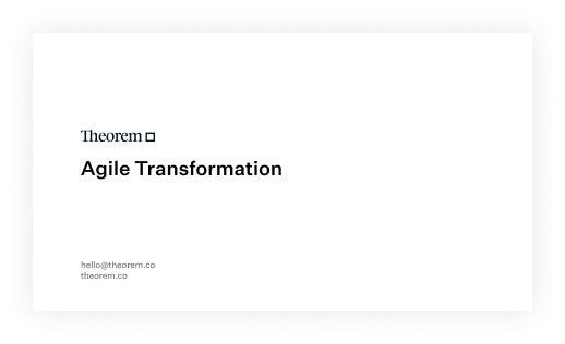 Agile Transformation White Paper