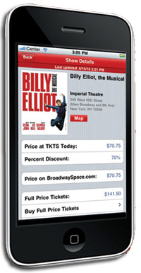 The TKTS iPhone Ap