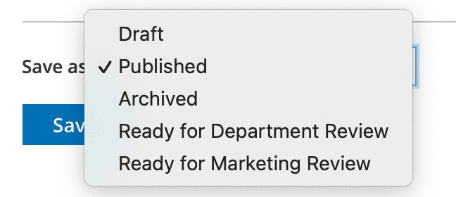 user workflows for editing content on Clean Catalog sites