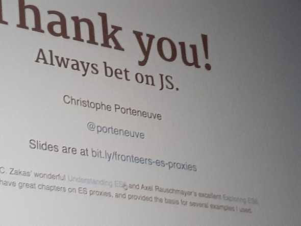 Always bet on JS