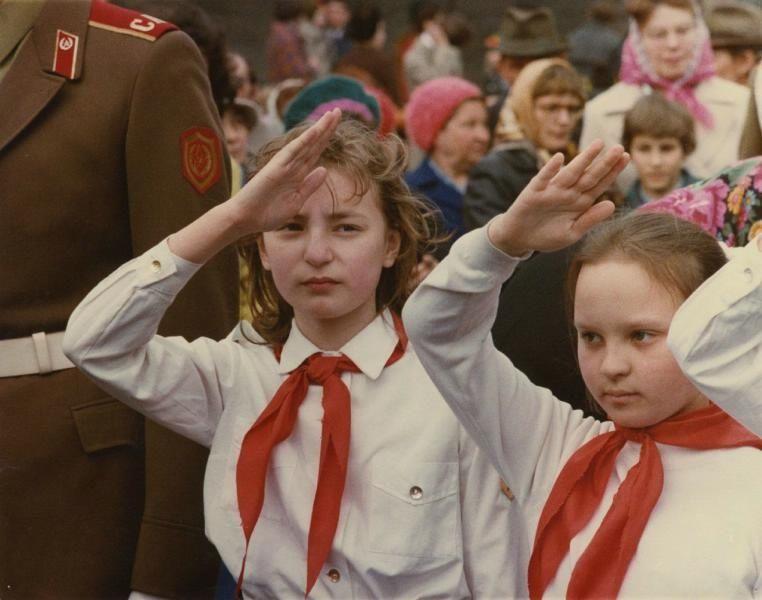 Советские пионеры, 1970-е. Фото: Всеволод Тарасевич, russiainphoto.ru