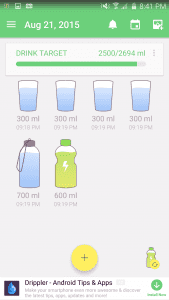 Water Your Body Log