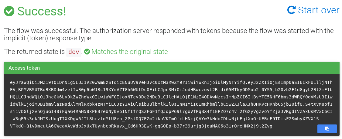 OIDC Generated Token