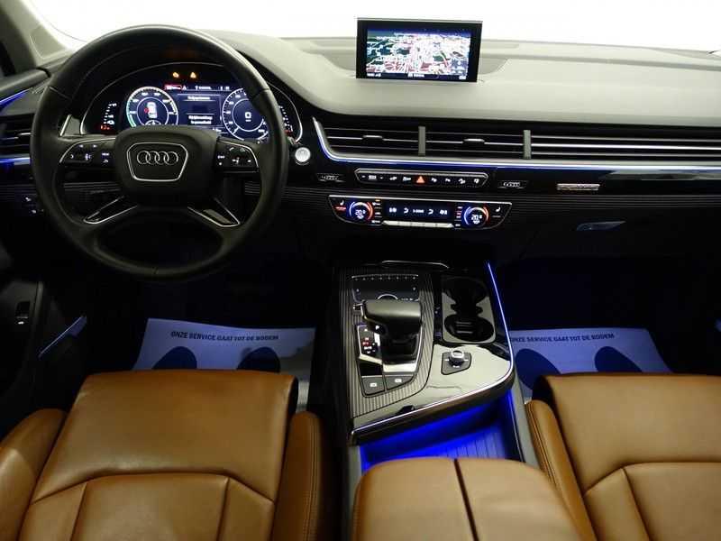 Audi Q7 3.0 TDI e-tron 374pk Quattro S-Line Autom- Bose, Virtual Cockpit, 360 Camera, Park Assist, Leer afbeelding 2