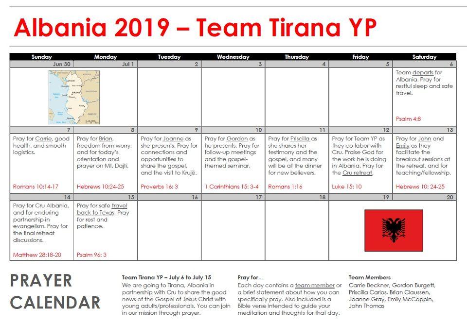 Team Tirana (Young Professionals)