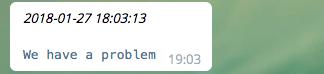 Telegram error notification