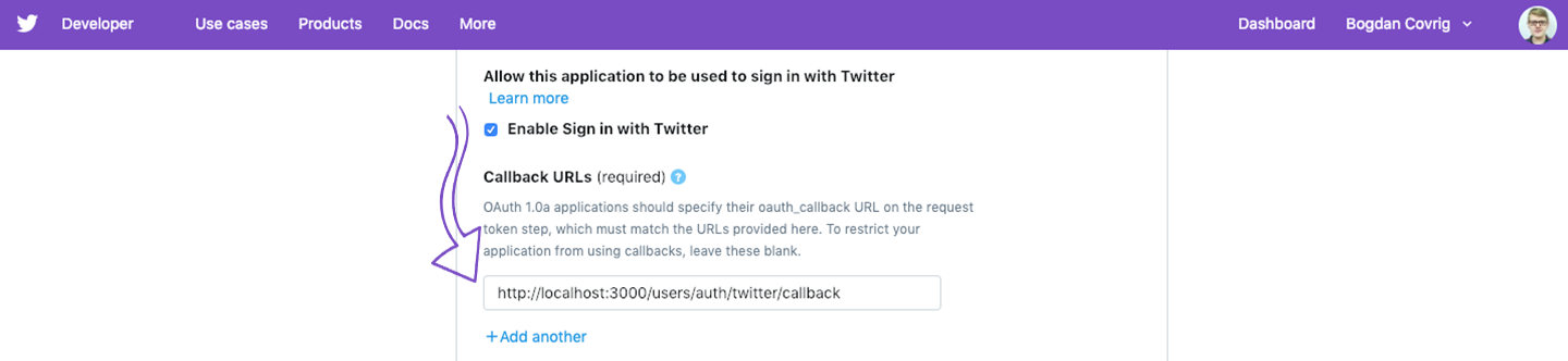 Enable sign-in