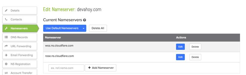 Update Domain Provider