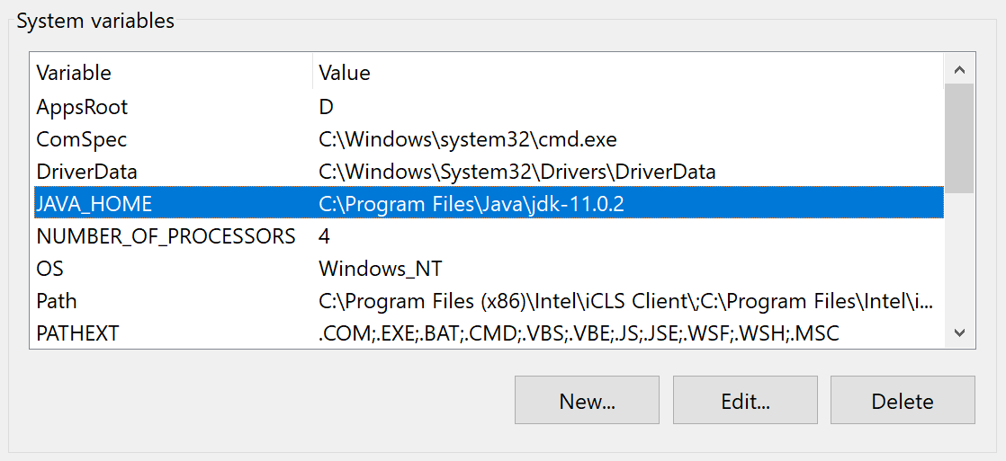 Java Home Variable