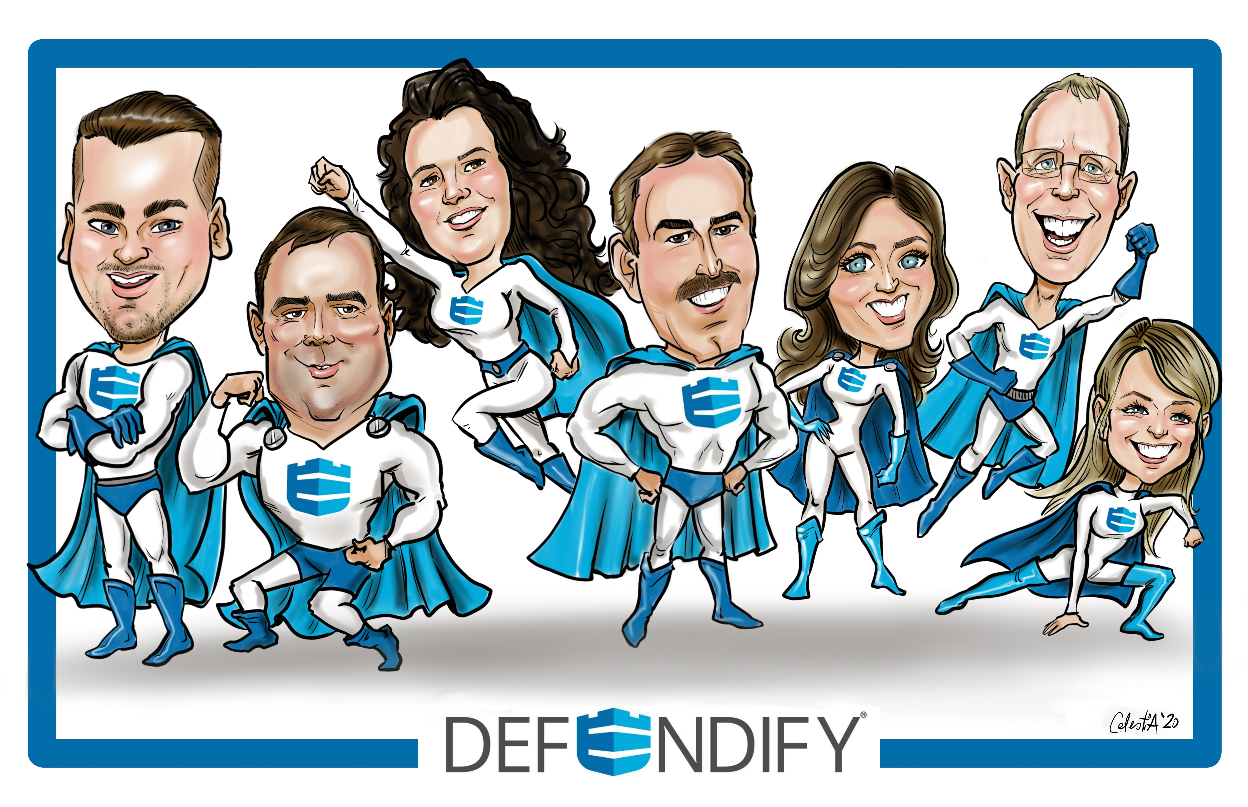 NSCA Team Caricatures