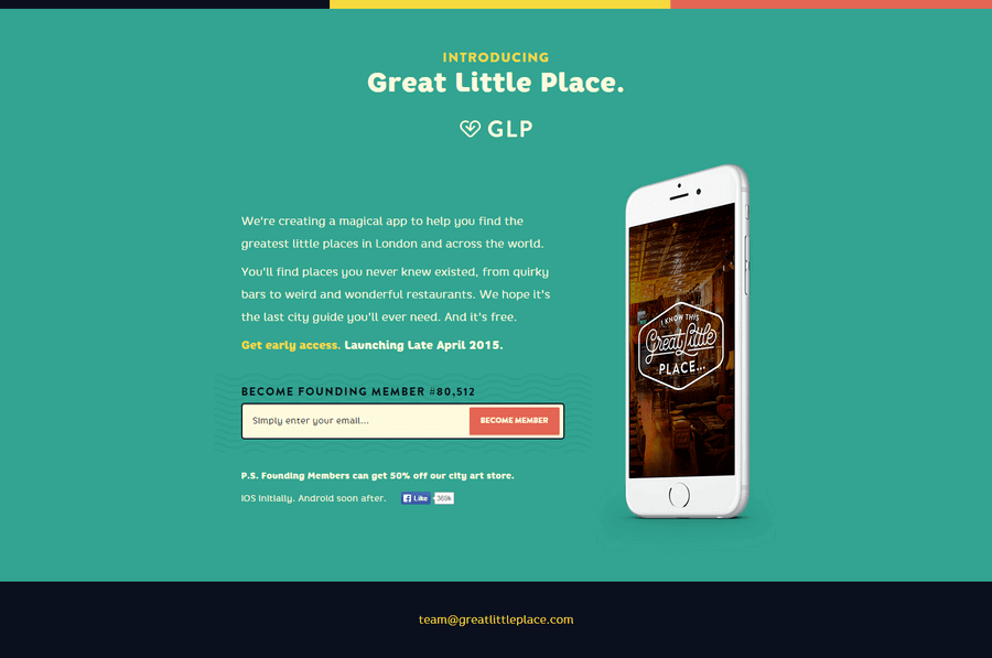 Viral Sign up Landing Page