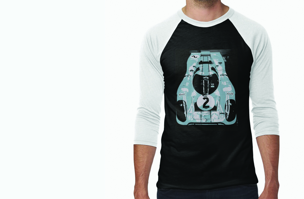 Porsche 917K Baseball Sleeve T-Shirt by thespeedart