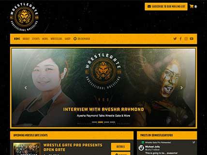 Wrestle Gate website screen-shot