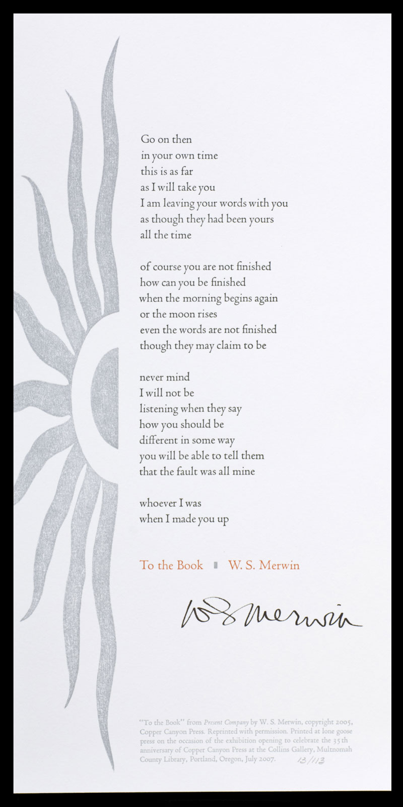 To the Book