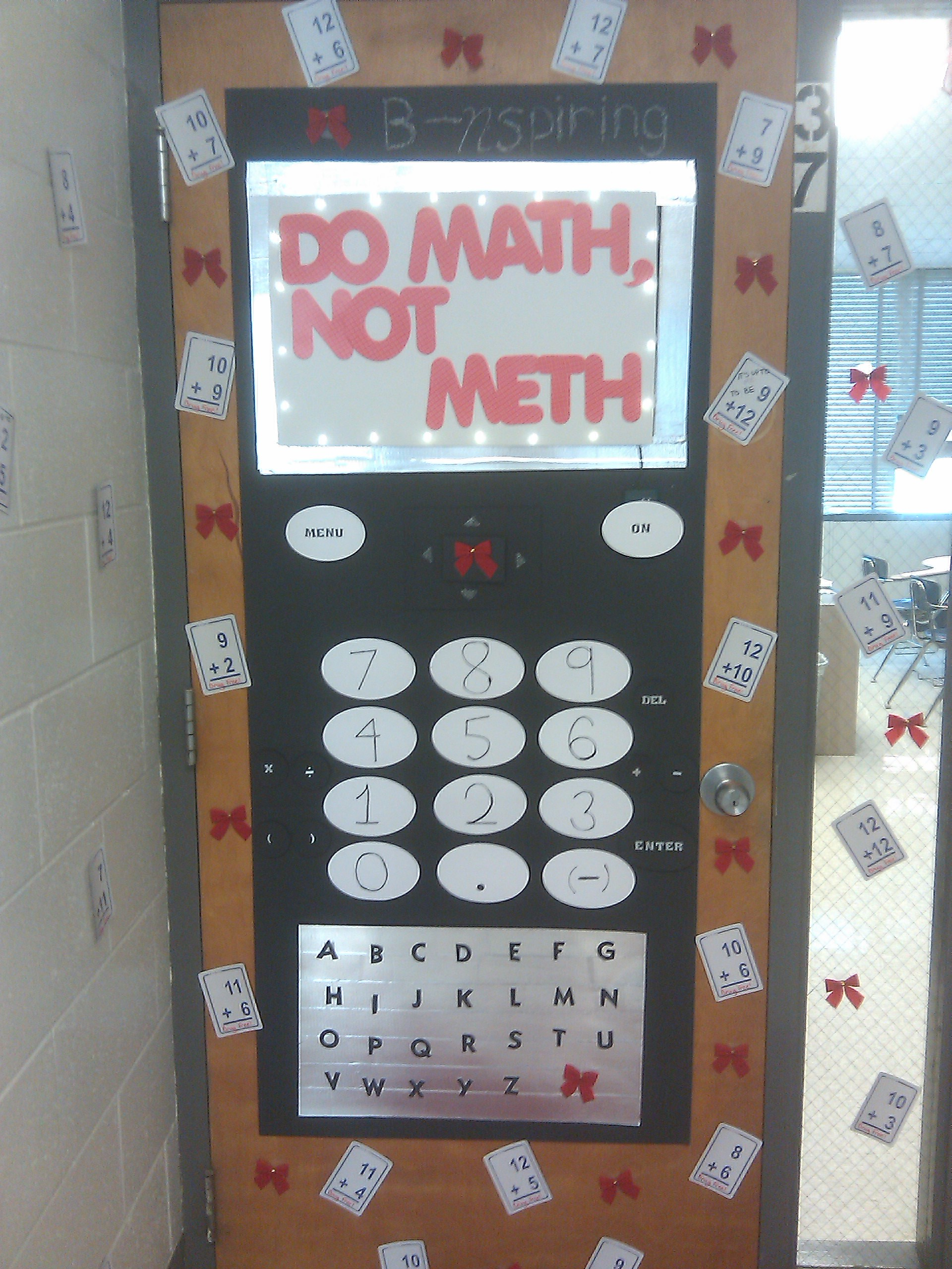 Red Ribbon Week Ti Nspire Door