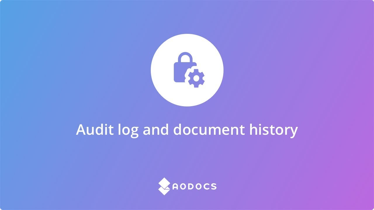 Audit log and document history's thumbnails