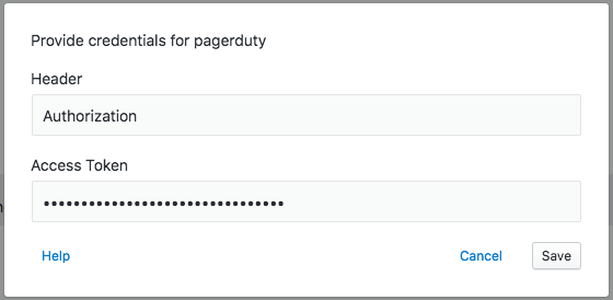 PagerDuty auth example