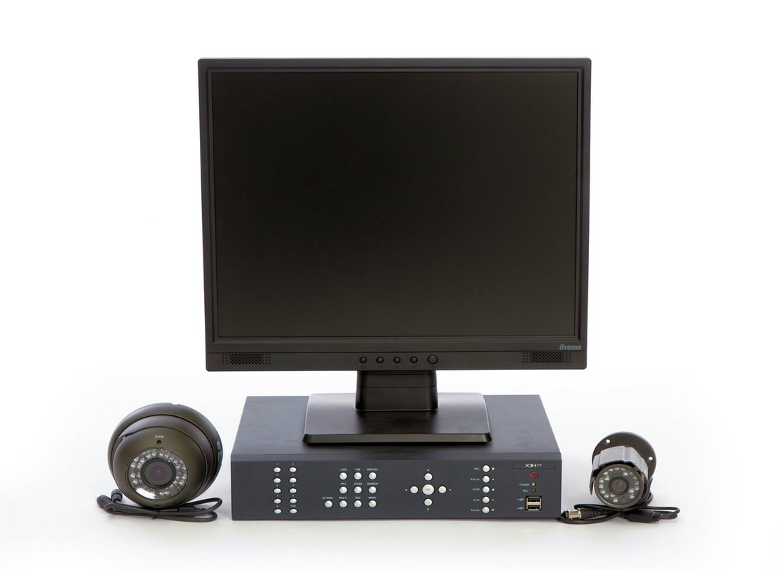 CCTV Monitor and DVR with Cameras