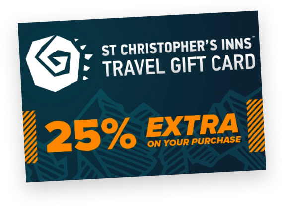 St Christopher's Inns Travel Gift Card with 25% extra value