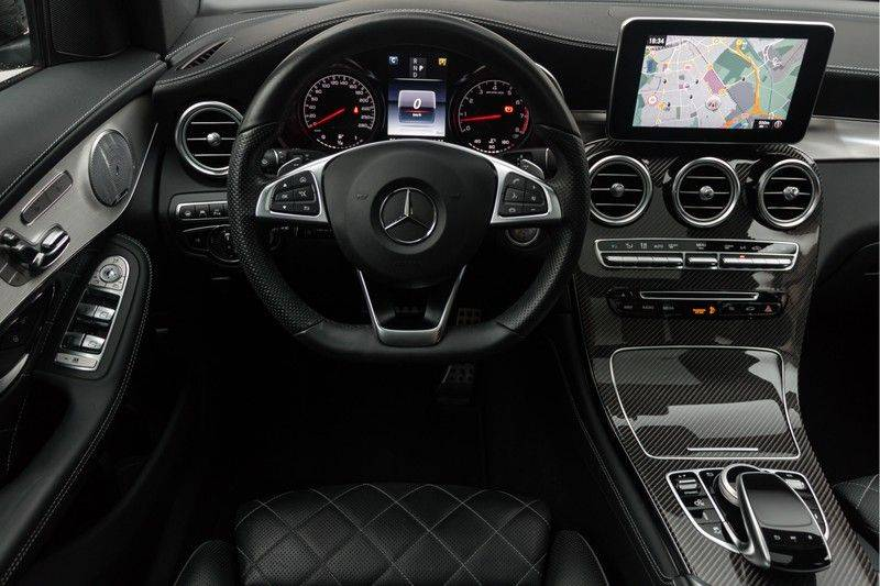 "Mercedes-Benz GLC GLC43 AMG 367pk 4Matic Panoramadak Luchtvering Nightpakket Distronic Keyless Burmester Sportleder+Memory Carbon AmbientLight ComandOnline 21"" Parktronic 360Camera Pdc afbeelding 3"