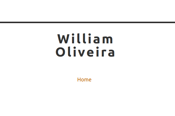Screenshot of William Oliveira Blog