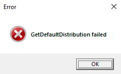Start error