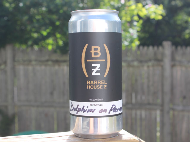 Dolphins on Parade, a New England IPA brewed by Barrel House Z