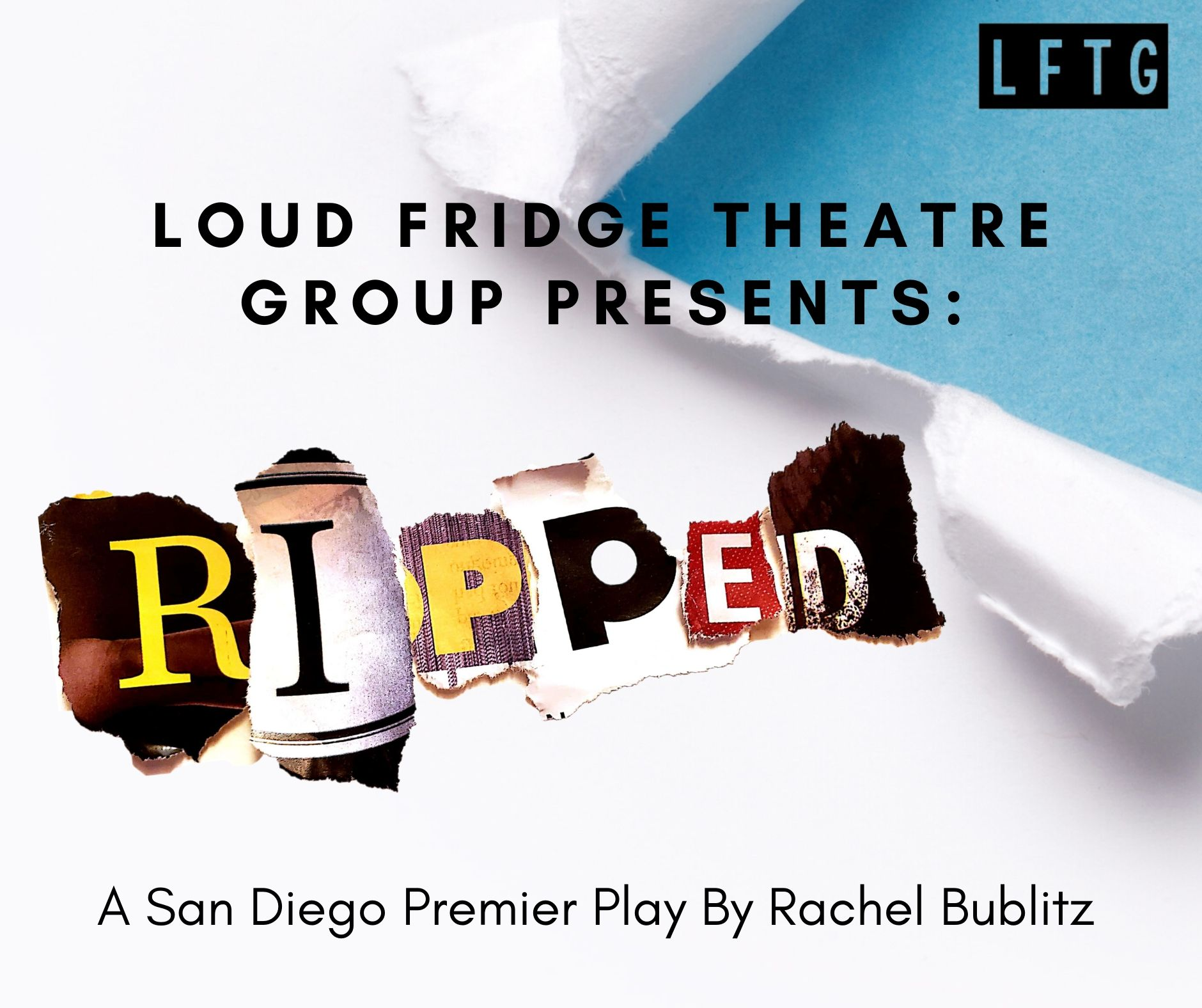 Postcard for RIPPED at Loud Fridge Theatre Group.
