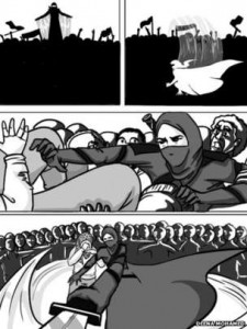 The comic strip tackles the phenomenon of street attacks on women