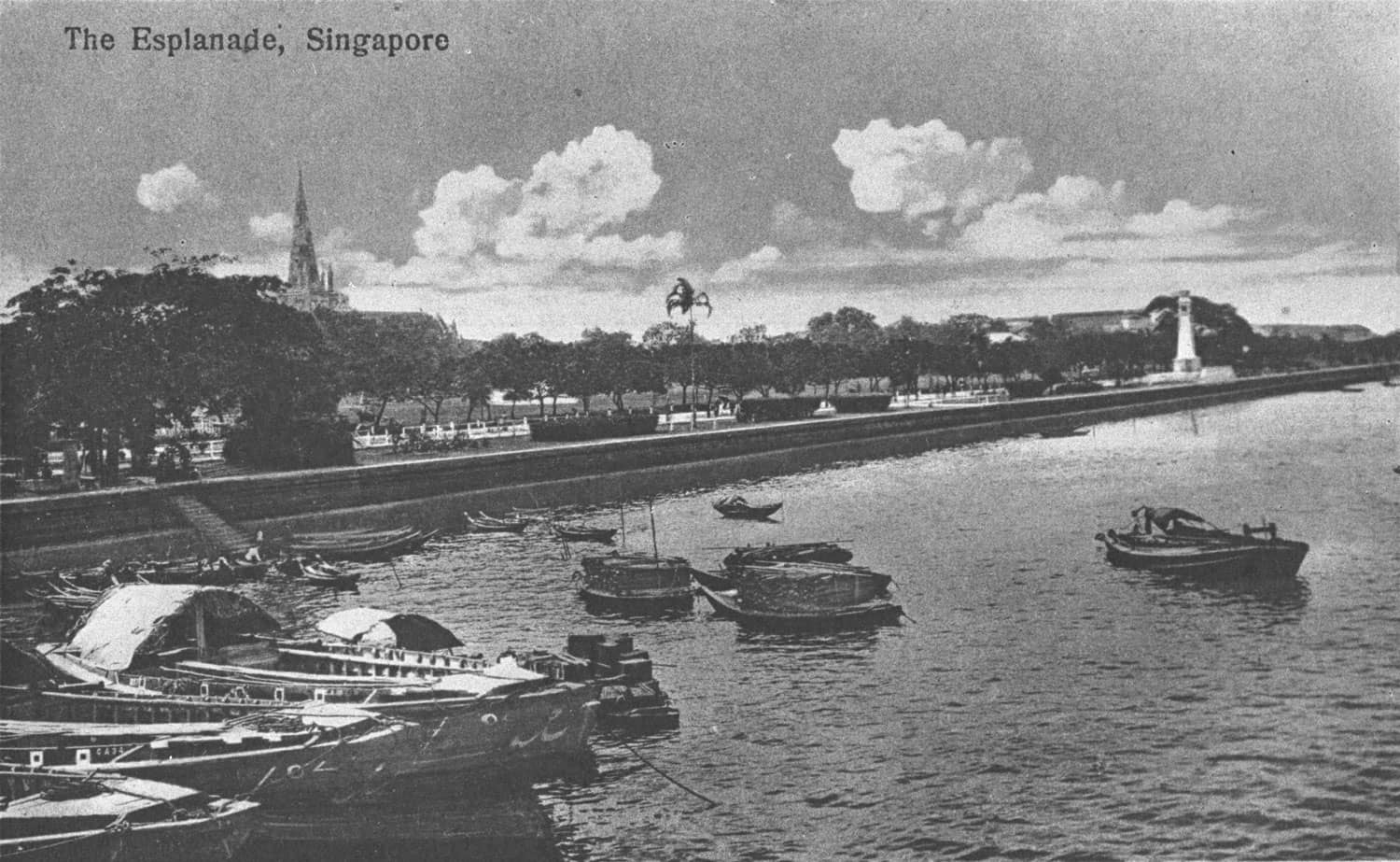 View of the Esplanade from the sea, c. 1920s