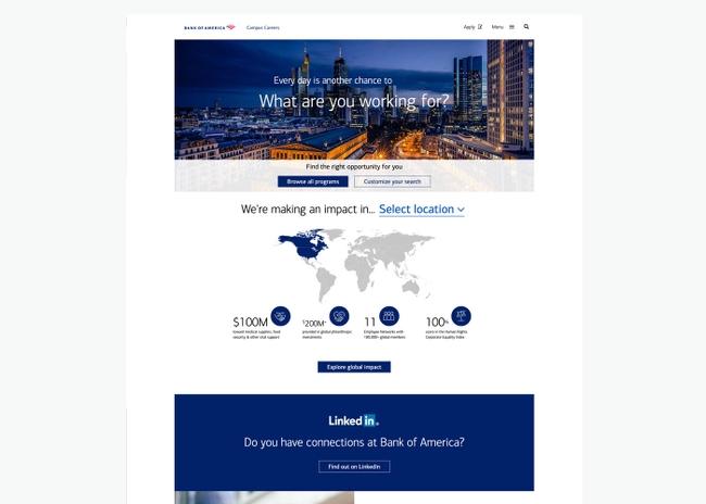 Campus careers desktop screenshot