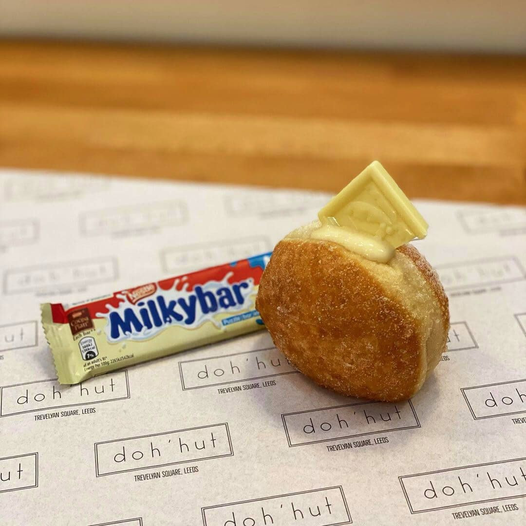 Doh'hut donut and Milky Bar