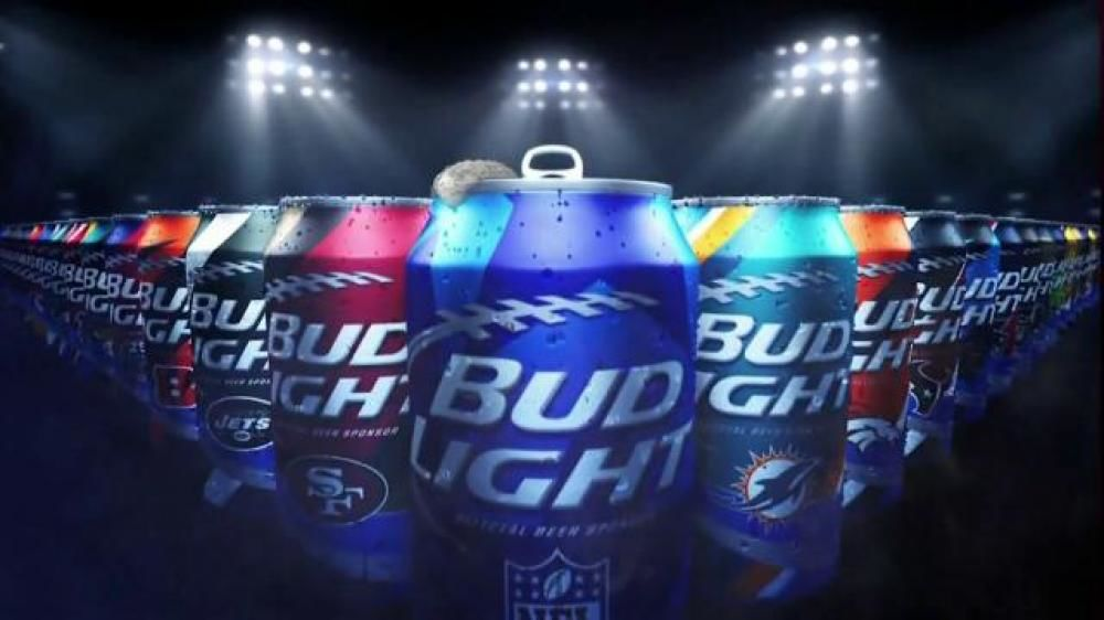 Bud Lite Football Can