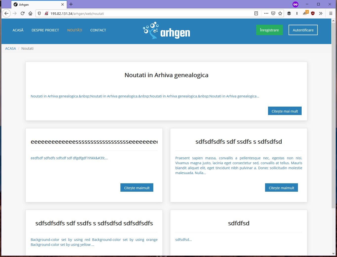 Eroare în Arhiva Genealogică Virtuală