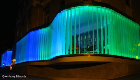 exchange art gallery at night