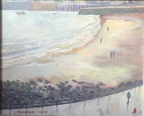 painting of the Sunny Sands from above