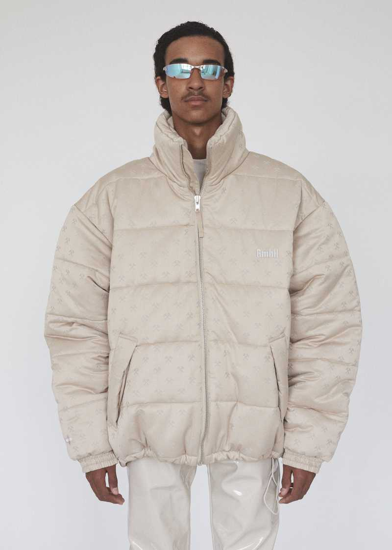 GmbH AW19 DEBS PUFFER COAT BEIGE PREVIEW