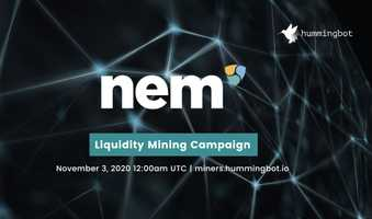 Liquidity mining campaign for NEM (XEM) going live on November 3, 2020!