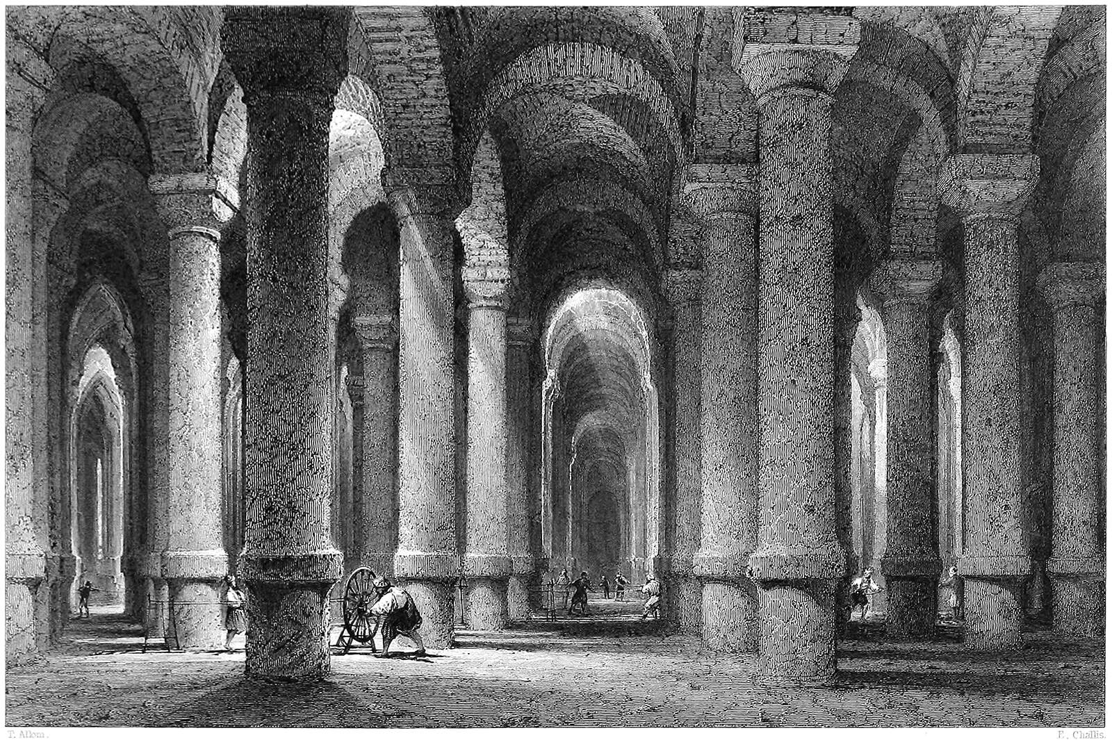 The Cistern of Philoxenos, a subterranean reservoir in Istanbul