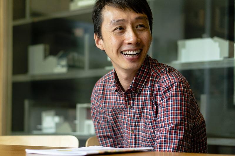 Architect Joseph Lee at his office