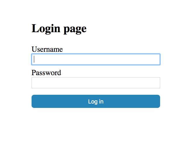 Custom Login Form